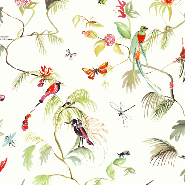 Designed for Living – wallpaper birds of paradise