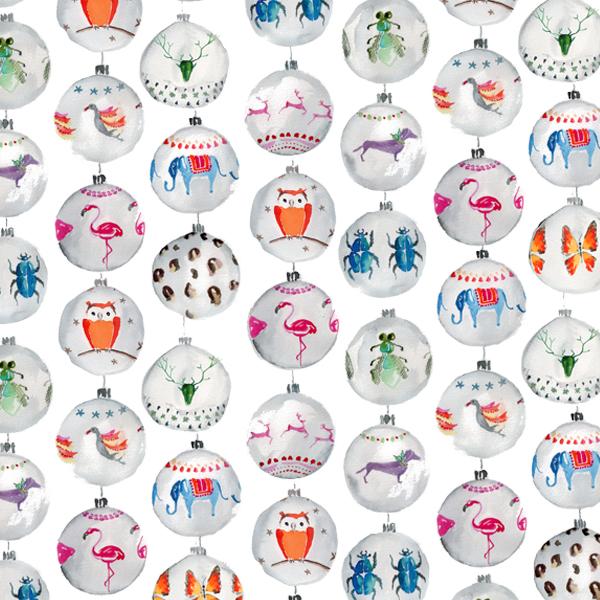 Sloane stationery – xmas balls 2014